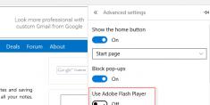 Enable Adobe Flash Player